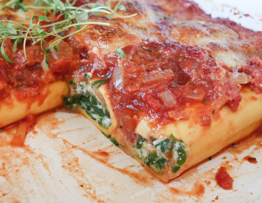 Cannelloni med spinat og ricotta – fyldt italiensk pastaret