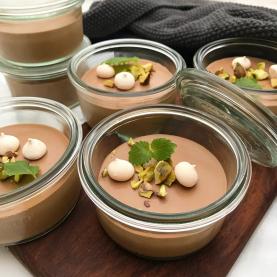 Chokolademousse i portionsglas