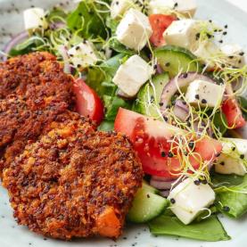 Vegetarfrikadeller – Vegetardeller med quinoa