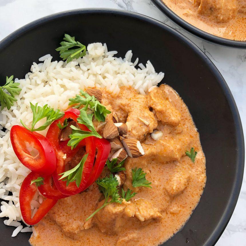 Chicken Korma - opskrift på indisk ret med kylling