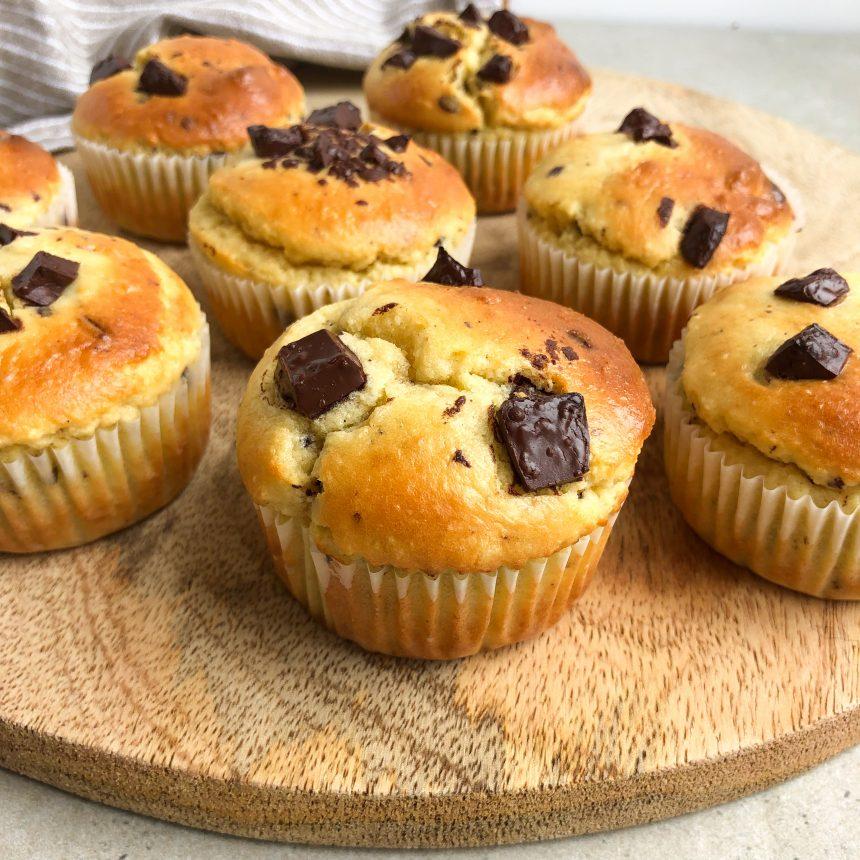 Sunde muffins med chokolade