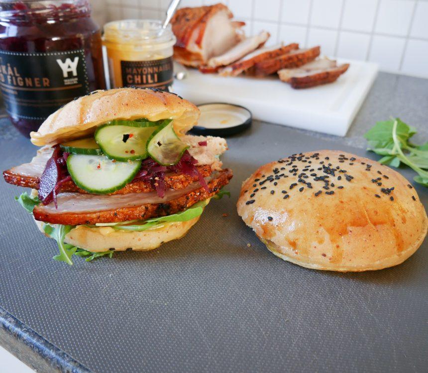 flæskestegsburger