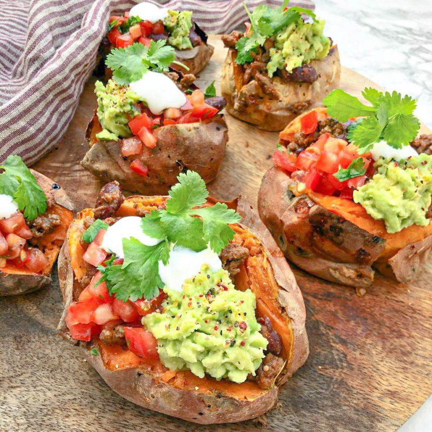 Taco af sød kartoffel med mexifyld