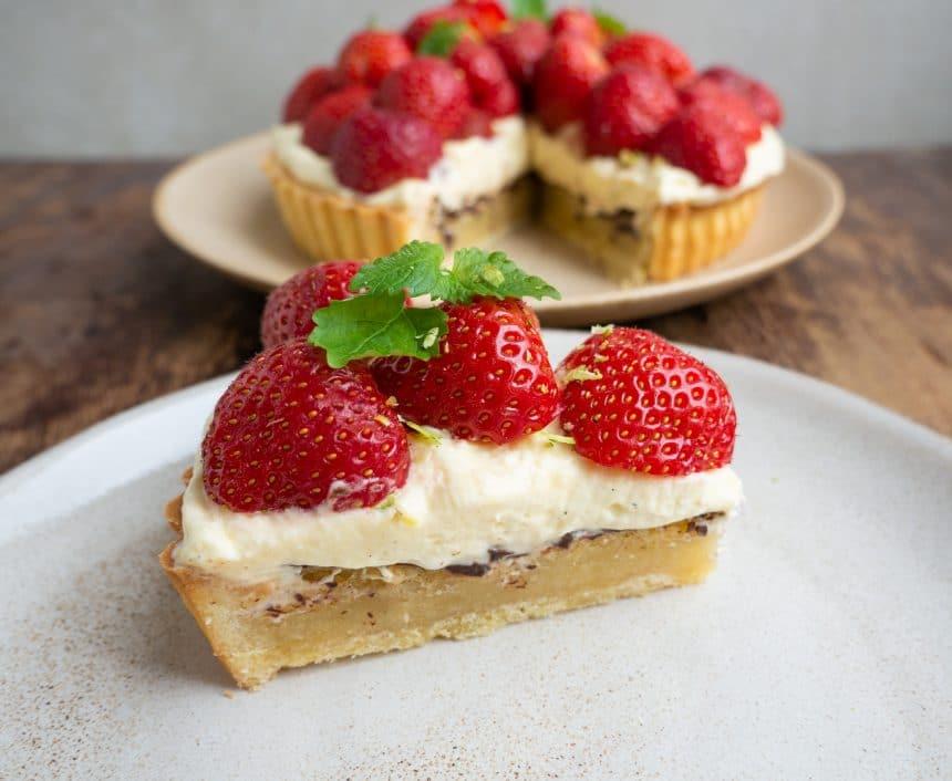 verdens bedste jordbærtærte
