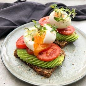 avocadomad med blødkogt æg