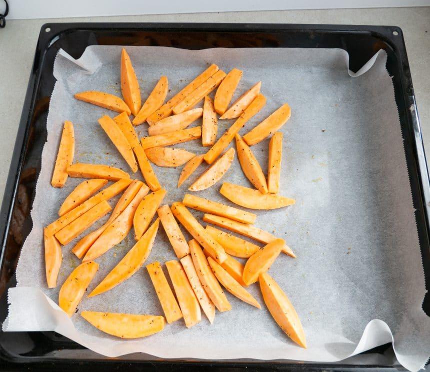 sød kartoffelfritter