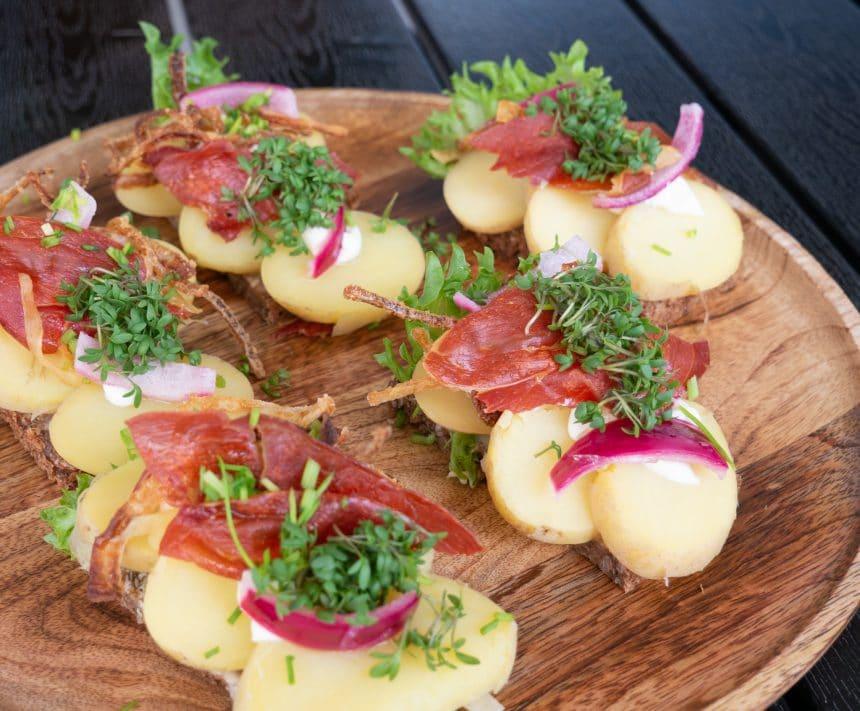 smørrebrød med kartofler