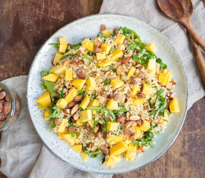 Nem opskrift på bulgursalat med mango