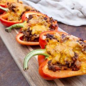 Fyldte peberfrugter med oksekød