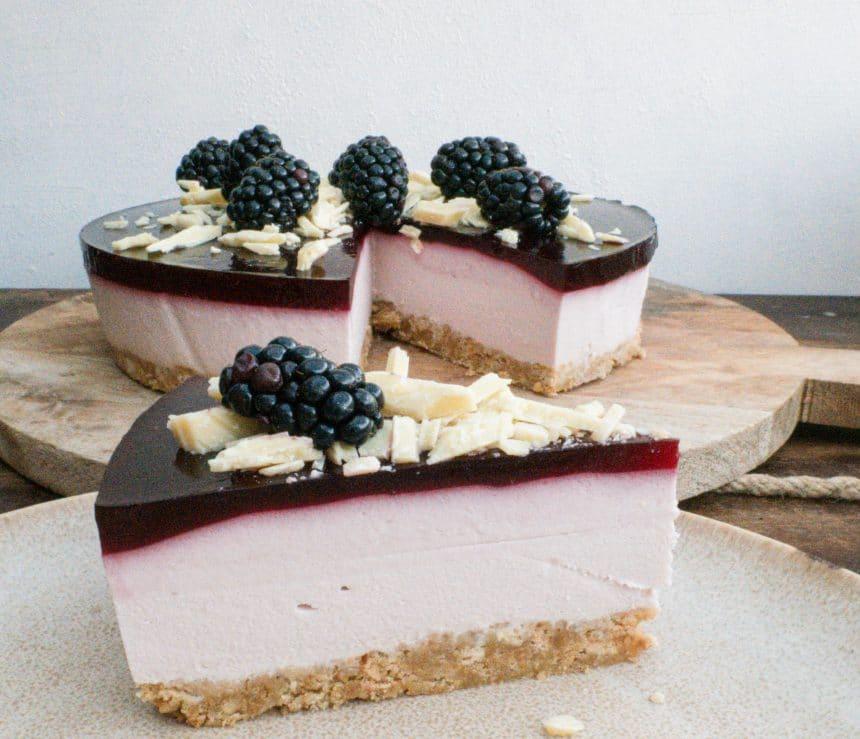 Opskrift på brombærcheesecake