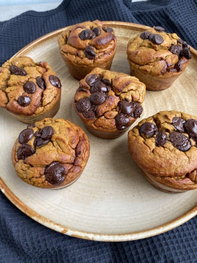 Opskrift på sunde græskarmuffins med chokolade