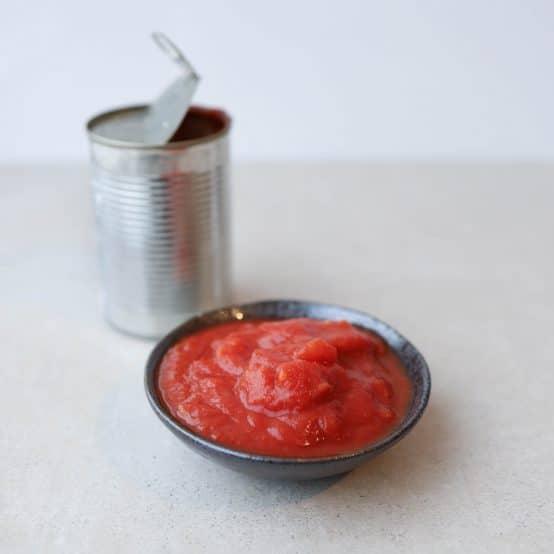 Opskrifter med hakkede tomater på dåse