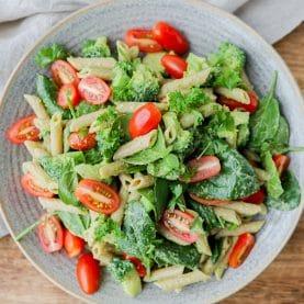pastasalat med pestocreme
