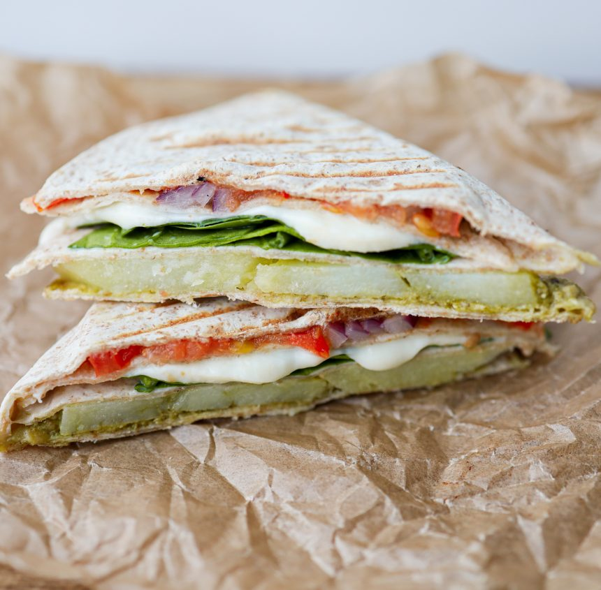 vegetarisk tortilla wrap