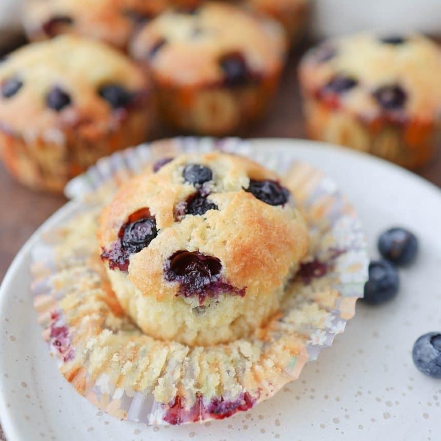 Opskrift på blåbærmuffins
