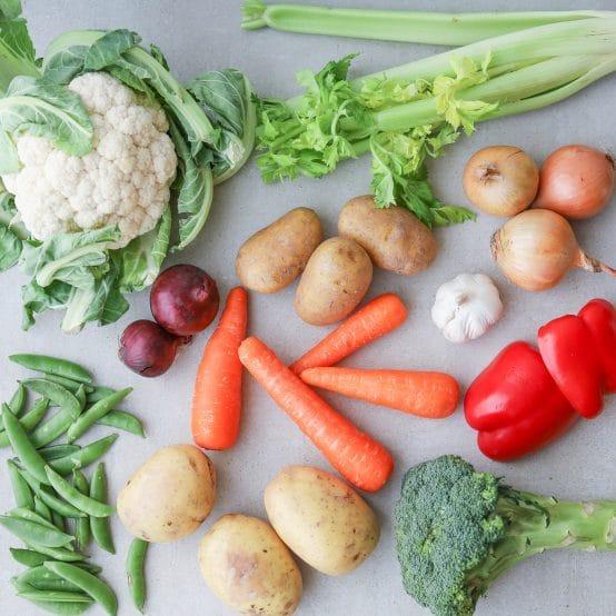 Blandet grøntsager