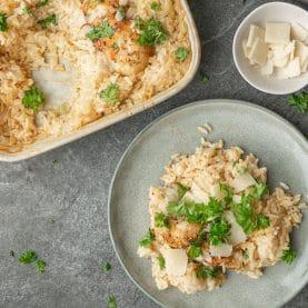 Bagt ris med kylling