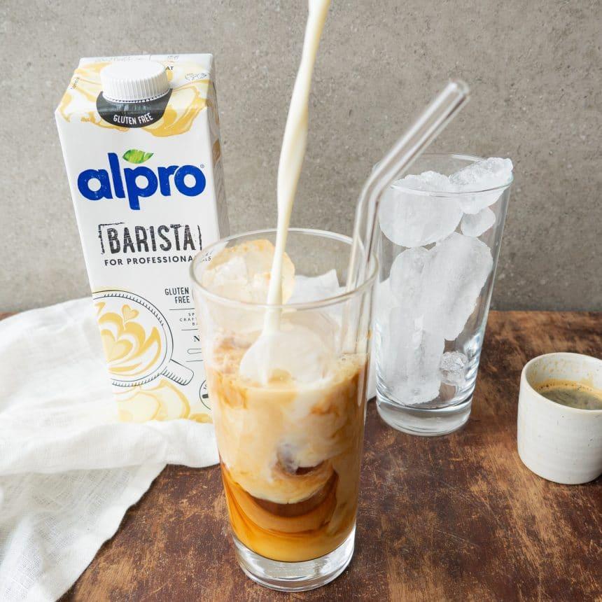 iskaffe med havredrik