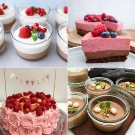 Desserter med chokolademousse