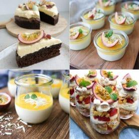 Desserter med passionsfrugt