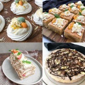 Desserter med hvid chokolade