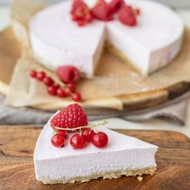 Cheesecake med ribs og hindbær