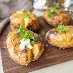 grillede kartofler
