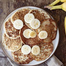 Bananpandekager uden æg